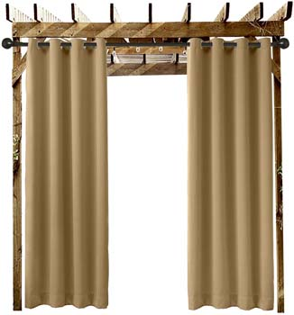 6. Extra Wide Outdoor Curtain Wheat 120