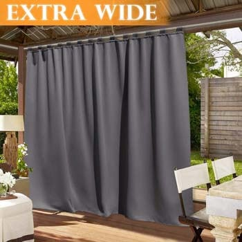 5. RYB HOME Patio Curtain