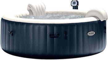2: Intex Pure Spa 6-Person Inflatable Portable Heated Bubble Hot Tub | 28409E