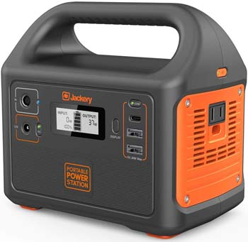5: Jackery Portable Power Station Explorer 160, 167Wh Lithium Battery Solar Generator