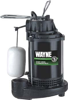 7. WAYNE CDU800 1/2 HP Submersible Cast Iron and Steel Sump Pump