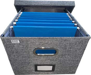 4. Sustainable Storage Solutions Collapsible File Box Storage Organizer