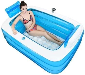 1. Blue Adult Portable Folding Inflatable Bathtub