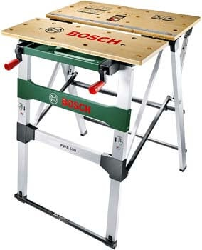10. Bosch Work Bench PWB 600 (4 blade clamps, cardboard box, max. load capacity. 200 kg)