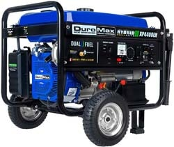 2. DuroMax XP4400EH 4400 watt Dual Fuel Hybrid Generator with Electric Start