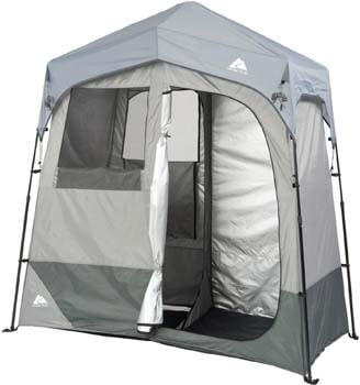 8. Ozark Trail Instant 2-Room Shower/Changing Shelter Outdoor