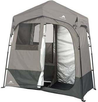 9. Ozark Trail 2-Room 7' x 3.5' Instant Shower/Utility Shelter Dark Grey
