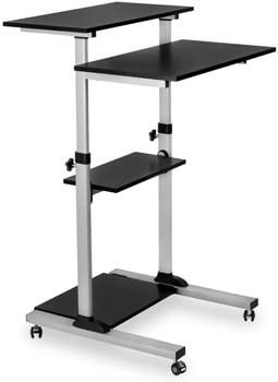 2. Mount-It! Mobile Standing Desk/Height Adjustable Stand Up Computer Work Station