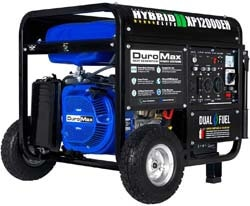 1. DuroMax XP12000EH 12000-Watt 18 HP Portable Dual Fuel Electric Start Generator, Blue and Black