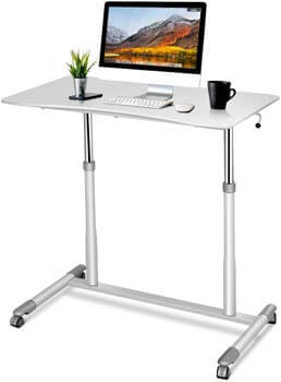 3. Tangkula Standing Desk Computer Desk, Height Adjustable Desk Sit Stand Desk