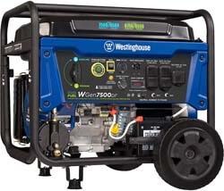 3. Westinghouse WGen7500DF Dual Fuel Portable Generator