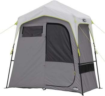 2. Core Instant Camping Utility Shower Tent with Changing Privacy Room