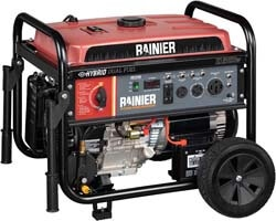 6. Rainier R12000DF Dual Fuel (Gas and Propane) Portable Generator
