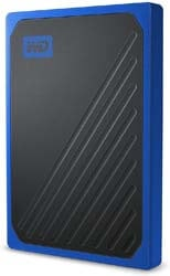 7. WD 1TB My Passport Go SSD Cobalt Portable External Storage