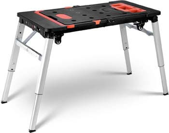 5. FIXKIT 7-in-1 Portable Workbench, Multifunctional Folding Work Table Scaffold/Dolly/Platform