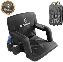 6. HITORHIKE Stadium Seat for Bleachers or Benches Portable Reclining Stadium Seat Chair