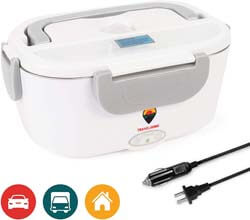 5. TRAVELISIMO Electric Lunch Box 2 in 1 - Portable Food Warmer