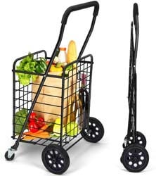 2. Pipishell Shopping Cart with Dual Swivel Wheels for Groceries