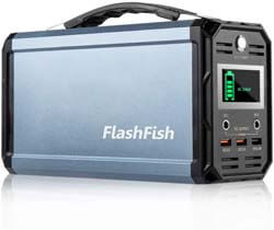 3. FF Flashlight 300W Solar Generator, FlashFish 60000mAh Portable Power Station