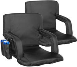 8. KingSo Stadium Seat 2 Set for Bleachers Portable Reclining Seat Floor Chairs