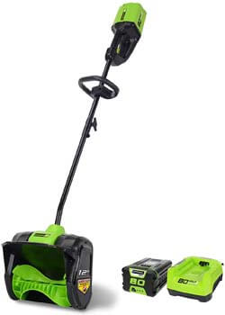 4. Greenworks PRO 12-Inch 80V Cordless Snow Shovel, 2.0 AH Battery Included 2600602