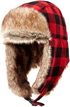 3. Amazon Essentials Men's Trapper Hat with Faux Fur