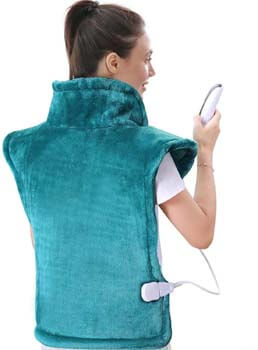 10. Large Heating Pad for Back and Shoulder, 24