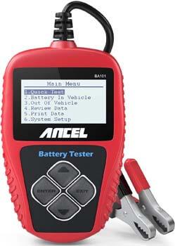 8. ANCEL BA101 Professional 12V 100-2000 CCA 220AH Automotive Load Battery Tester