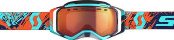 8. Scott Prospect Adult Snowmobile Goggles - Blue/Orange/Red Chrome/One Size
