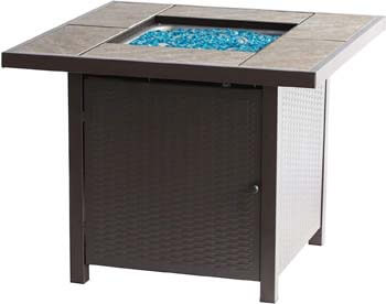 2. BALI OUTDOORS Propane Gas Fire Pit Table