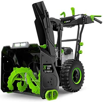10. EGO Power+ SNT2400 24 in. Self-Propelled 2-Stage Snow Blower