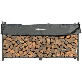 9. Woodhaven Outdoor Firewood Rack