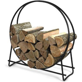 2. Goplus Outdoor Indoor Firewood Rack