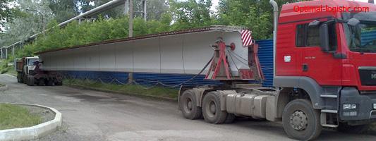 Transportation of bridge beams