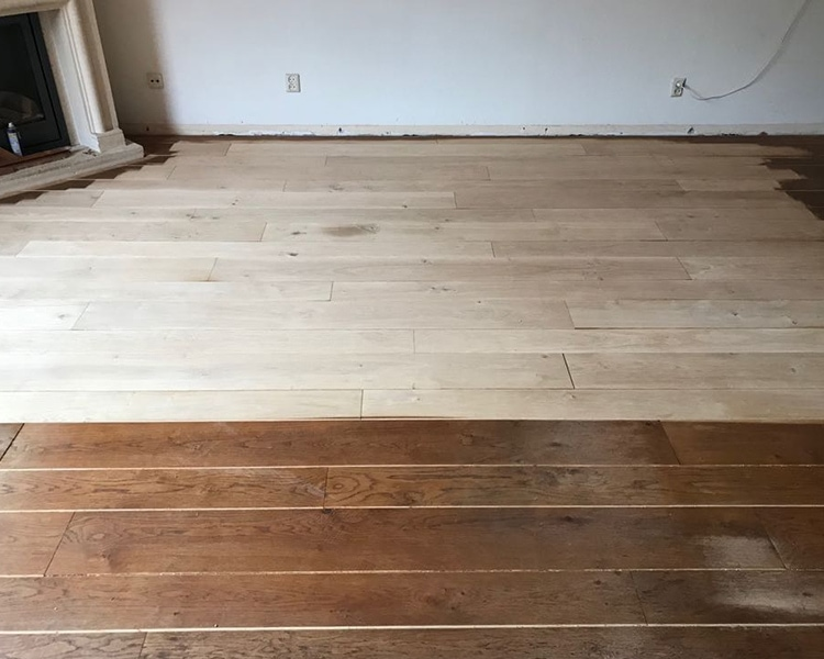 Visgraat vloer renovatie