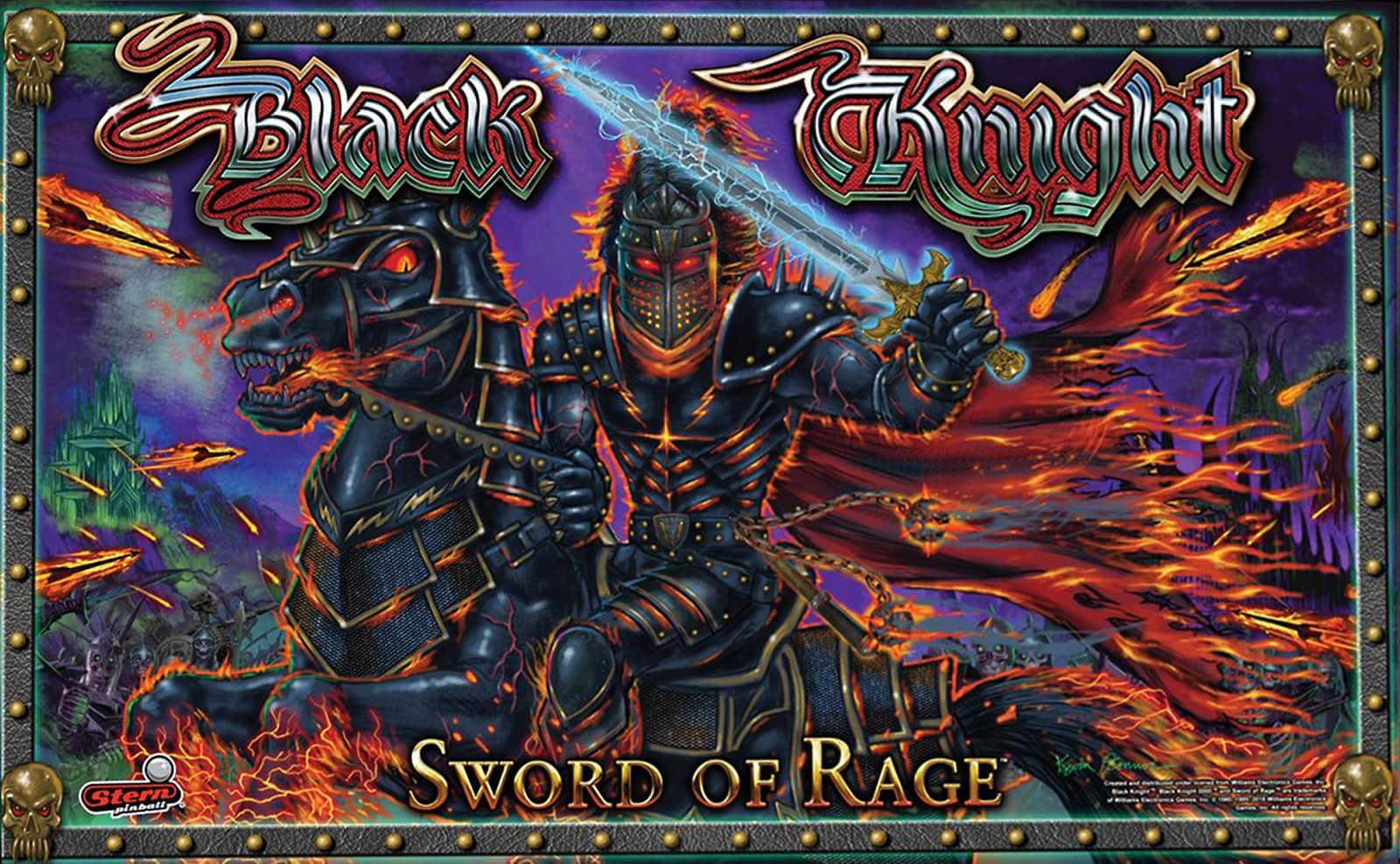 Black Knight Sword of Rage Pinball Backglass