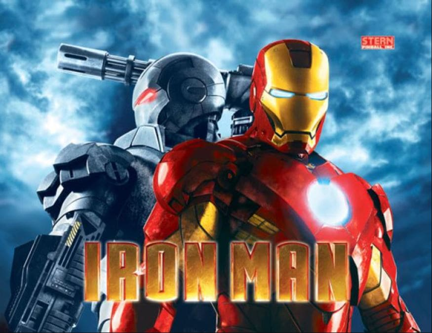 Iron Man Pinball Backglass