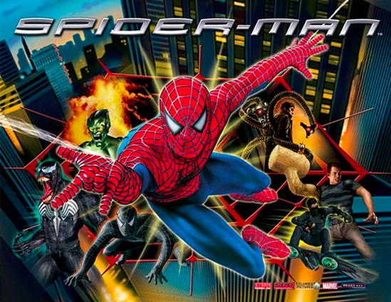 Spiderman Pinball Backglass