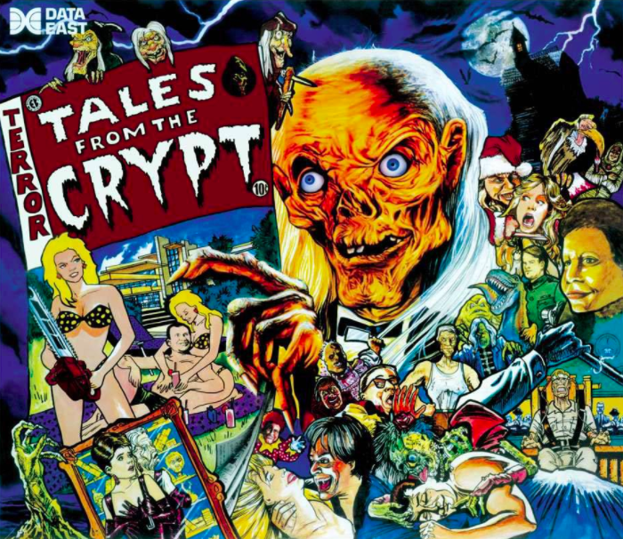 Tales from the Crypt Pinball Backglass