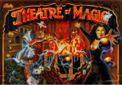 Theatre of Magic Pinball Translite