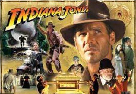 Stern Indiana Jones Pinball Translite