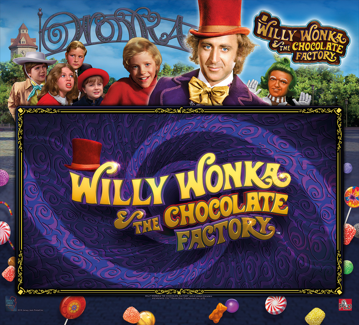 Willy Wonka and the Chocolate Factory Pinball Backlgass