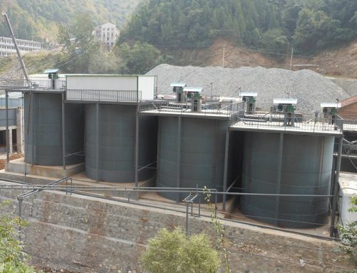 Double-impellers leaching tank