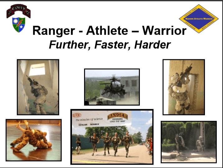 Ranger Athlete Warrior (RAW) Introduction