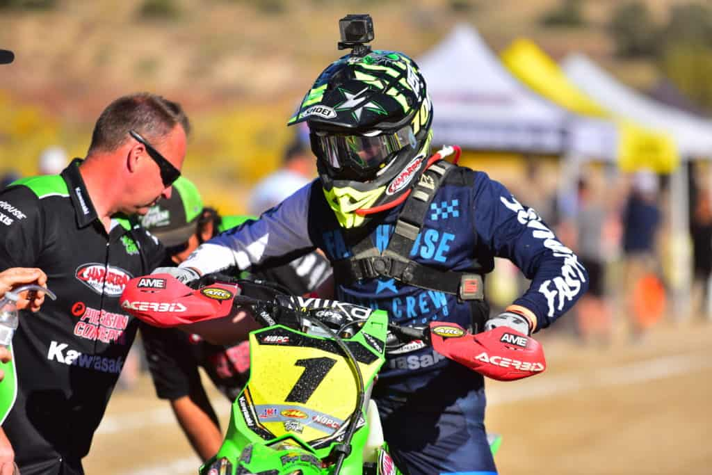 Zach Bell riding his KX450 at the 2019 Gorman NGPC