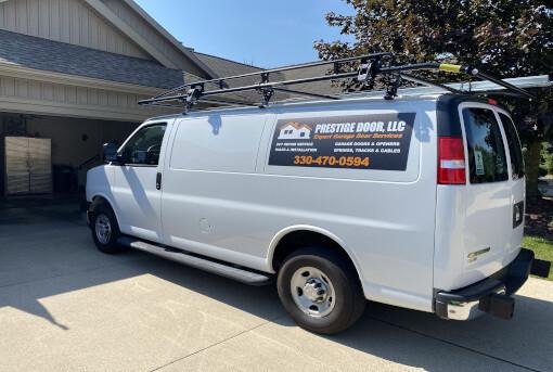 Garage Door Repair Van in Akron Ohio