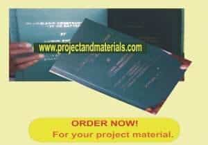 PROJECT TOPICS AND FREE PROJECT MATERIALS