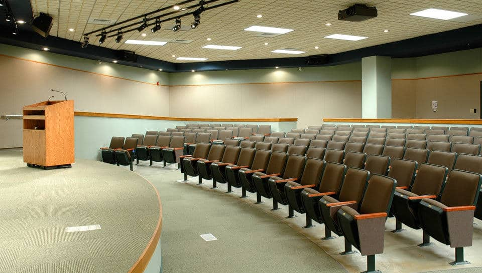 The Auditorium of the Conservation Campus Nature Center in Cape Girardeau, Missouri seats 160.