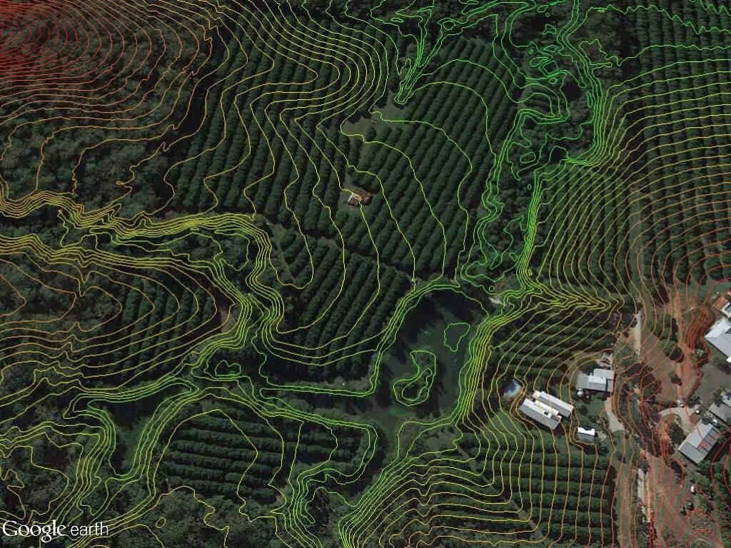 Macadamia plantation case study contour map