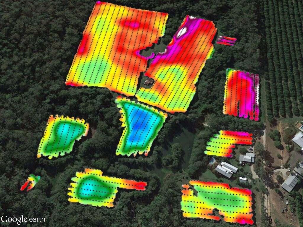 Percentage light to orchard floor